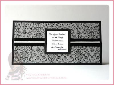 Stampin' Up! rosa Mädchen Kulmbach: Trauerkarte mit Spruch und Designerpapier