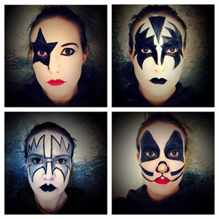 Kiss Members And Their Face Paint