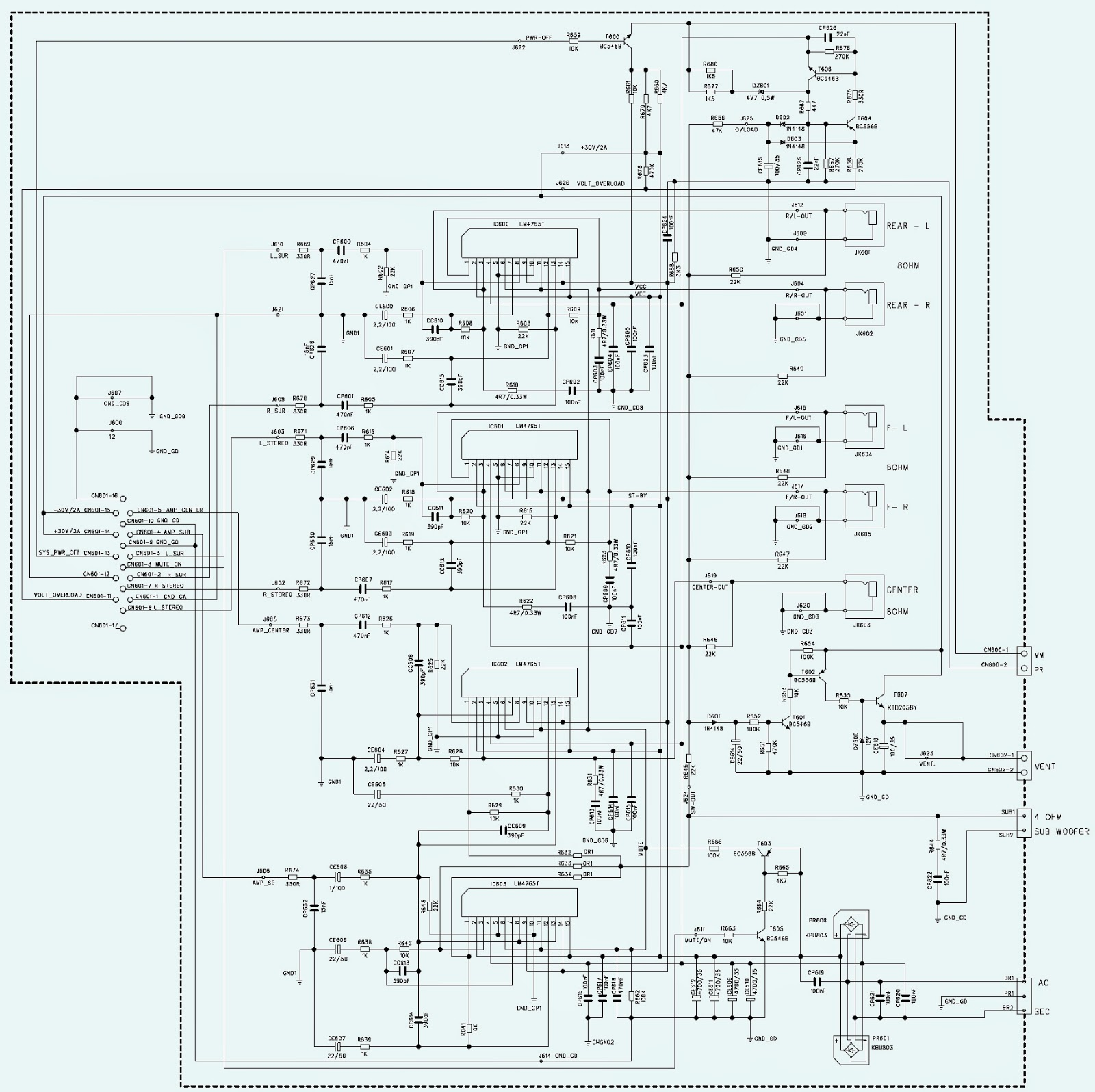 circuit diagram of home theater 2003 honda civic alternator wiring gradiente hts 200d  100 power supply and
