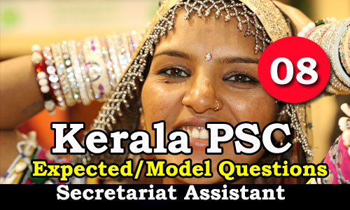 Kerala PSC Secretariat Assistant Expected Questions - 08