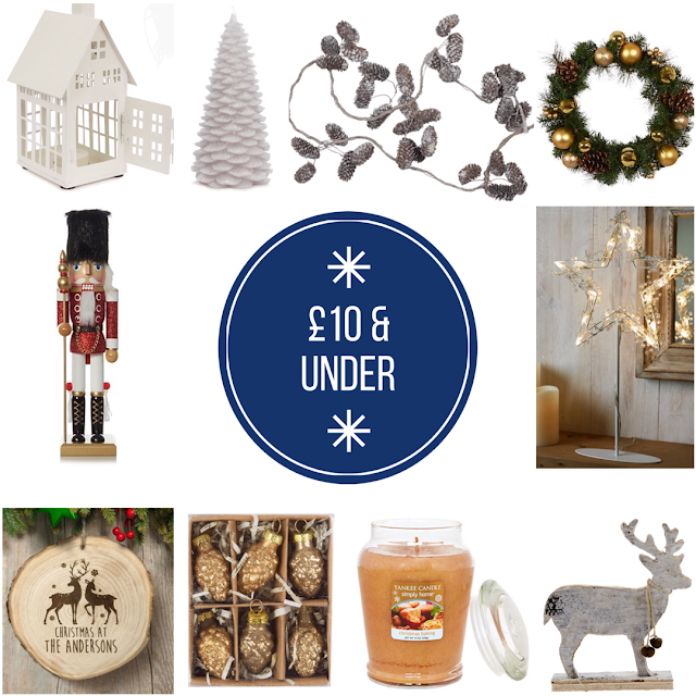 Christmas decor for £10 or under