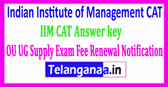 IIM CAT Answer key 2018 Indian Institute of Management CAT Answer key 2018 Download