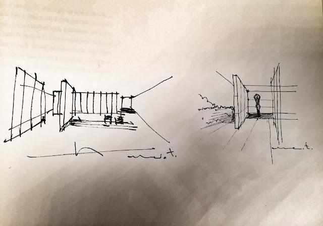 Disegno a mano libera Architetto Marcio Tolotti