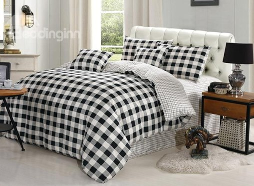 http://www.beddinginn.com/product/Classic-Black-White-Plaid-Design-4-Piece-Duvet-Cover-Sets-11407440.html