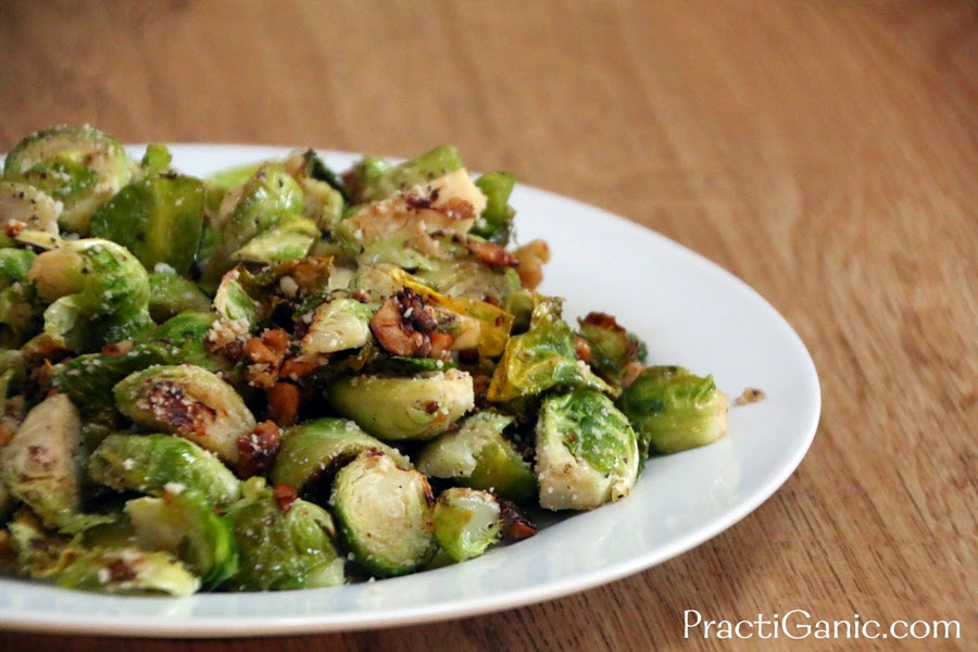 Roasted Brussel Sprouts with Walnuts