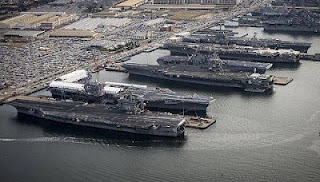 The picture is of five nuclear carriers