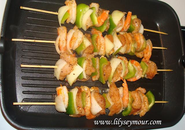 Shrimp and Chicken Kabobs