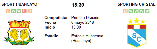 Sport Huancayo vs Sporting Cristal en VIVO