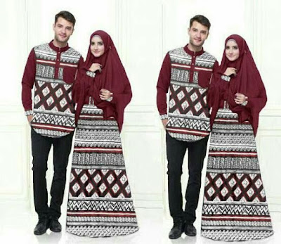 Jual Maxi Dress Couple Mozaik Batik - 12397