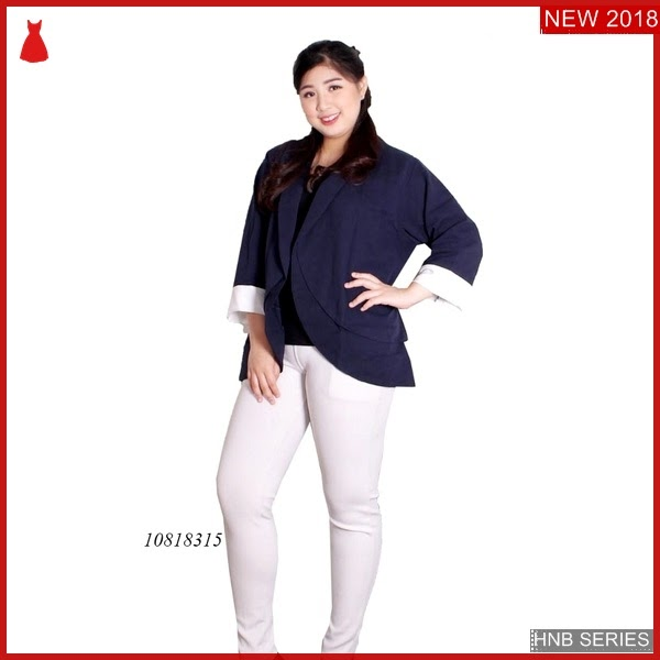 HNB222 Model Dress Batik Kombi Ukuran Besar Jumbo BMG Shop