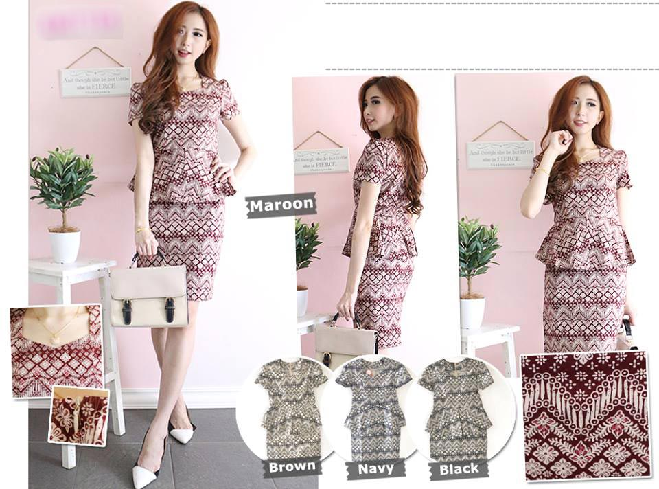 Jual Dress Tribal Batik Dress - 13090