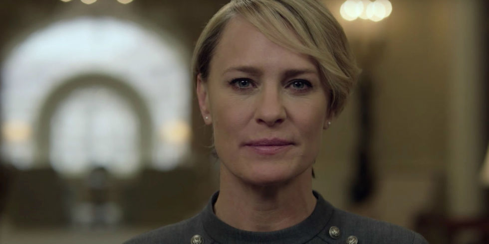 Robin Wright, caracterizada como la recia Claire Underwood en House Of Cards