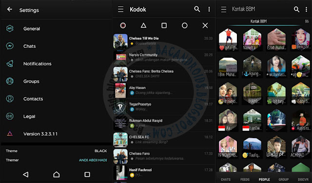 BBM Mod Black Style theme v3.2.3.11 Apk updte terbaru