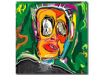 neo expressionist, abstract painting, digital painting, portrait, abstract portrait, neo expressionism, portraiture, artist, artwork, buy art, Sam Freek,