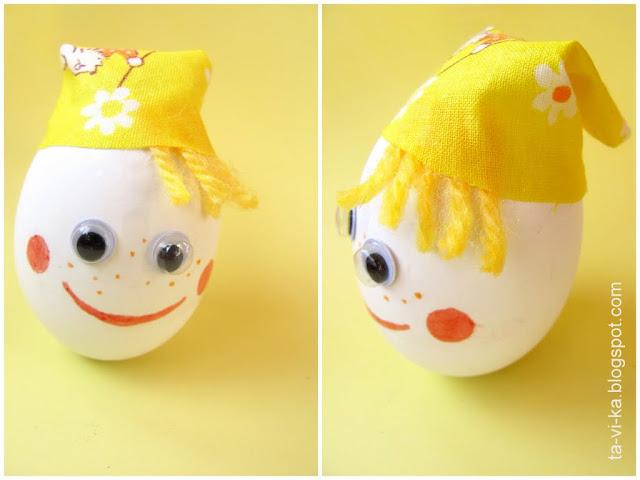 неваляшка из яйца своими руками