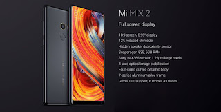 Xiaomi Mi MIX 2 Global Bands 5.99 inch 6GB RAM 128GB ROM Snapdragon 835 Octa-core 4G Smartphone - Black(Ceramic)