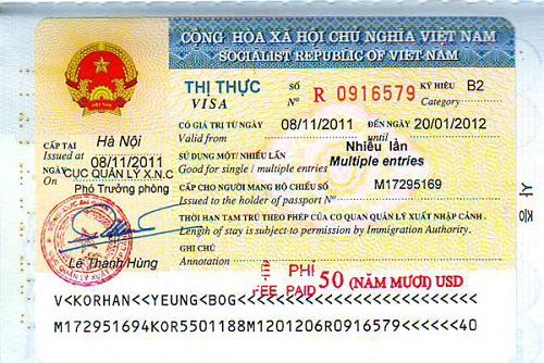 Thị thực visa du lịch Hàn Quốc nhiều lần