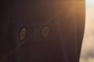 Dekoknöpfe als Manteldeko