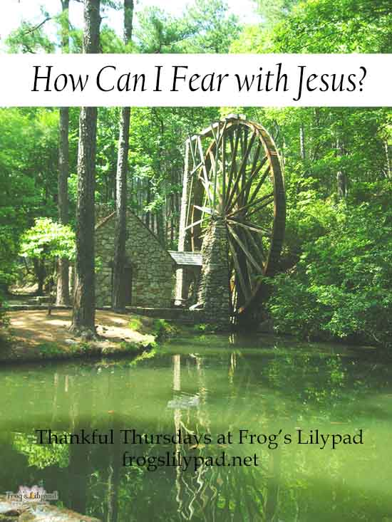 We don't have to face life alone or carry the load of concern by ourselves. We have Jesus and we don't have to fear. How Can I Fear With Jesus? Frog' Lilypad l frogslilypad.net