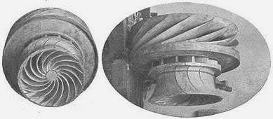 Parte del termorreactor diseñado por Coanda