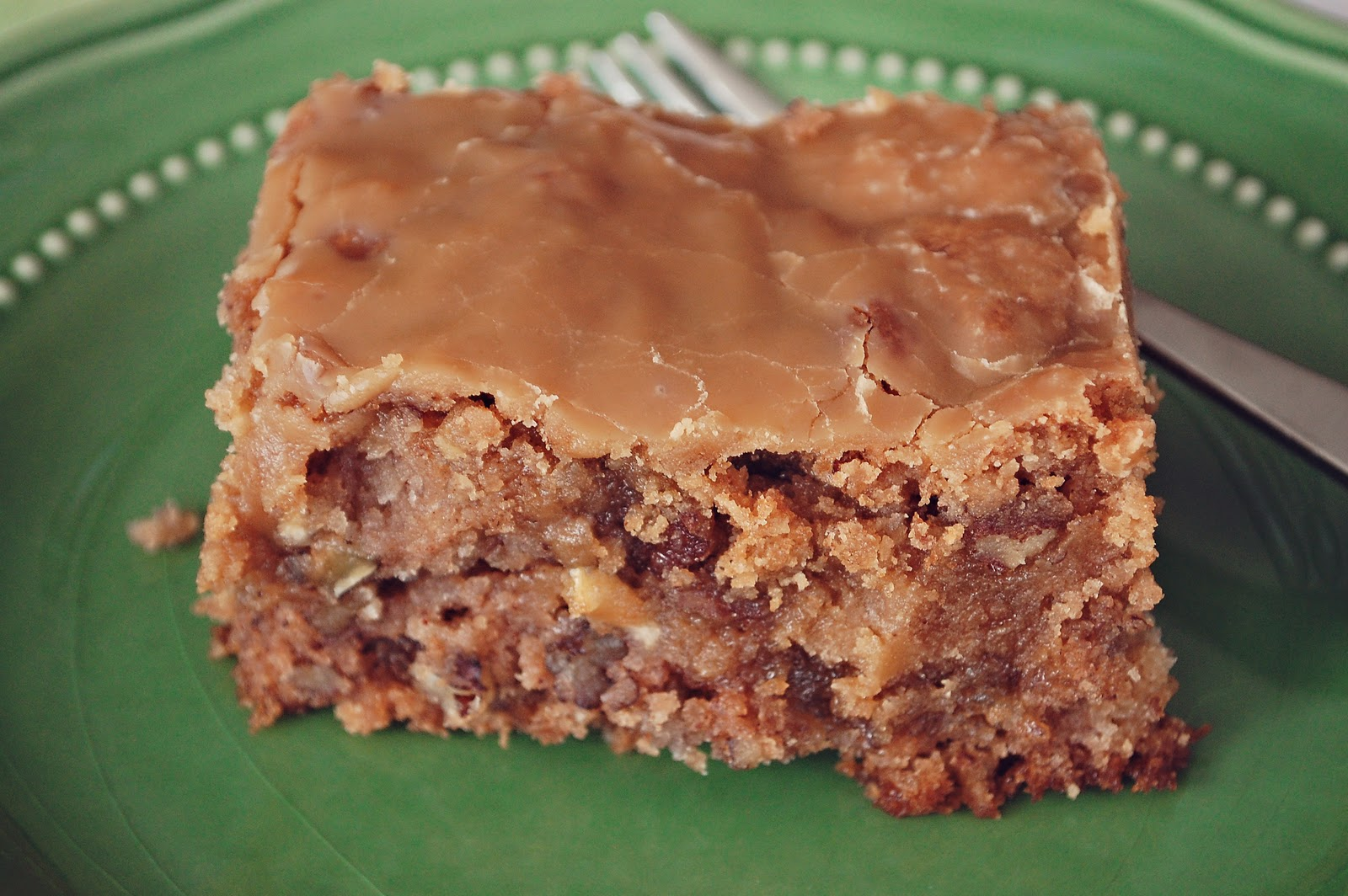 Easy Apple Cake With Brown Sugar Glaze