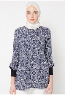 Baju Batik Kerja Motif Bunga