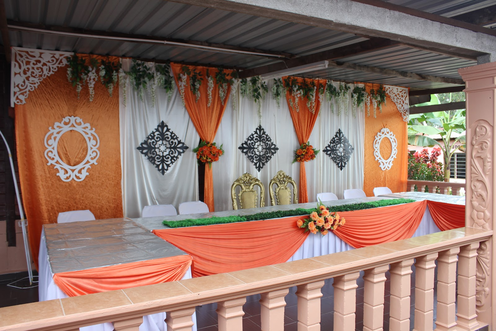 J My Buat Kat Anjung Rumah Boleh Muat Dalam 15 Orang Kot Decoration Nice Puas Hati Meja Kek Pengantin Pun Mak