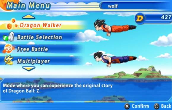 Dragon Ball Z Tenkaichi Tag Team PSP Terbaru