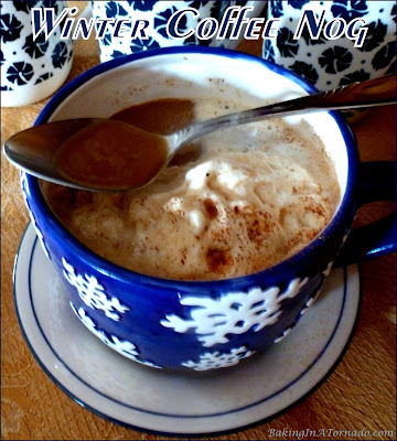 Winter Coffee Nog, a hot cup of coffee meets winter holiday flavors, spiced and spiked. | Recipe developed by www.BakingInATornado.com | #recipe #drink