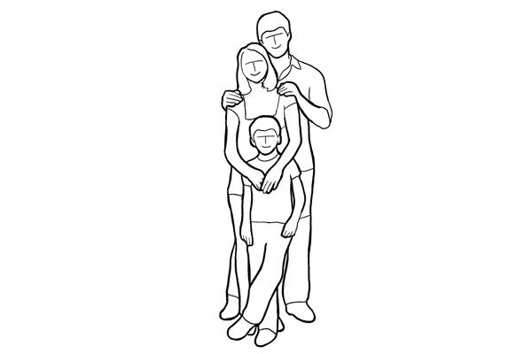 دليل أوضاع تصوير الأسرة بالصور 10