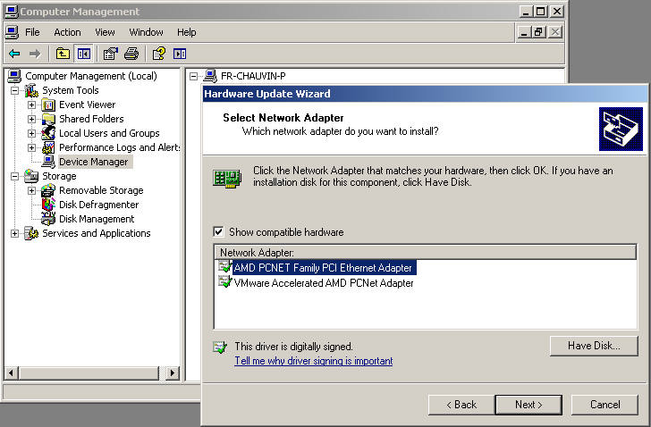 Somahovering: Migrating a Windows XP VMware Virtual Machine to a