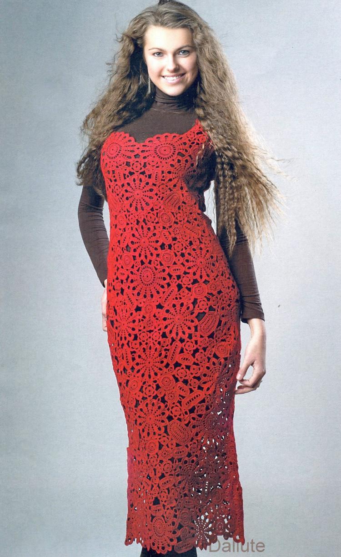 Patron Crochet Vestido Maxi