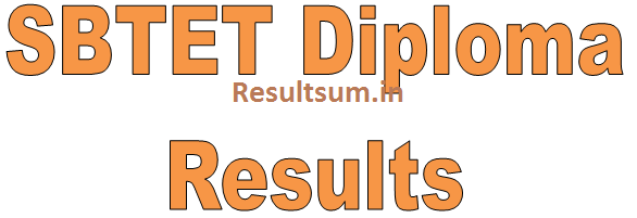 SBTET Diploma Results 2015