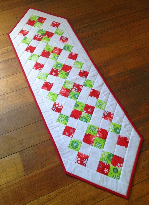 Easy Christmas Table Runner by Sew Today Clean Tomorrow