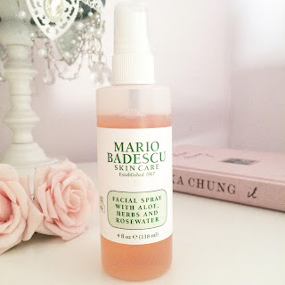 skin care routine, skin products, beauty, Mario Badescu, rose water, spray,
