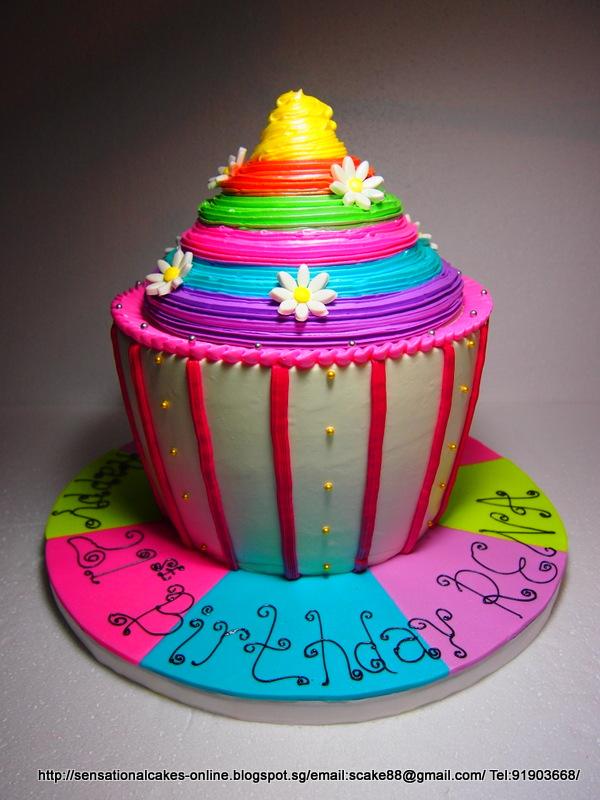 The Sensational Cakes Giant Cupcakes Cake Singapore