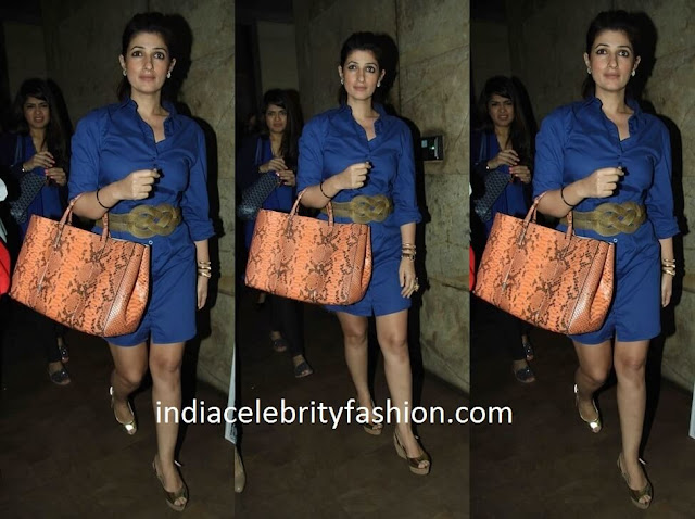 Twinkle Khanna in Shirt Dress