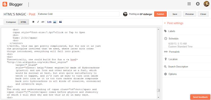 Blogger Markup Editor