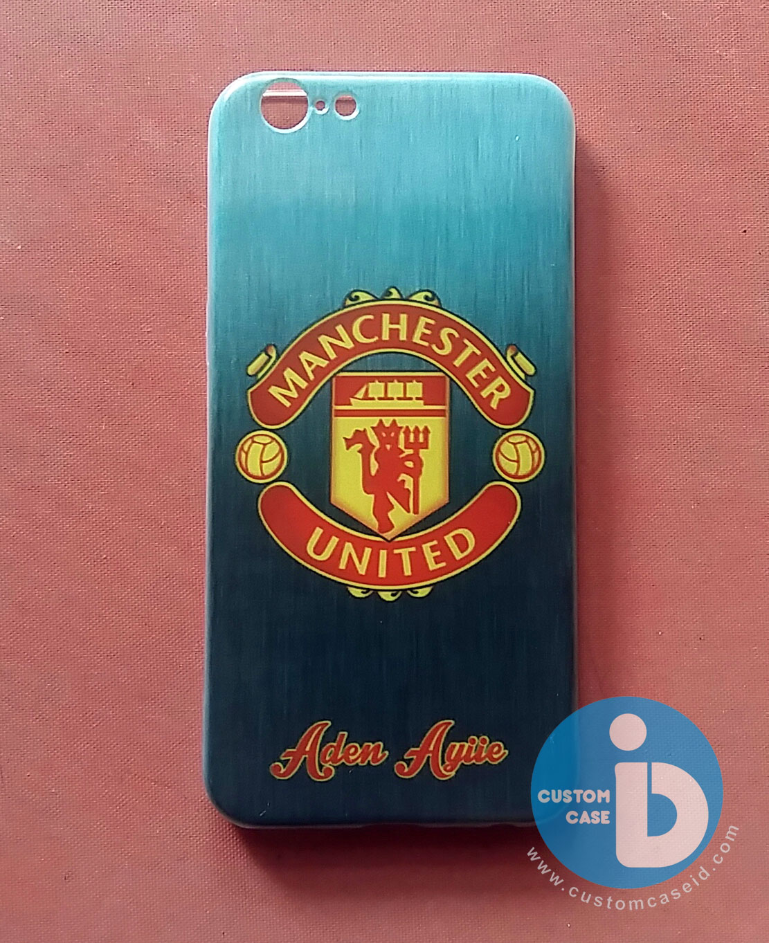 custom case Logo Manchester United dan custom nama