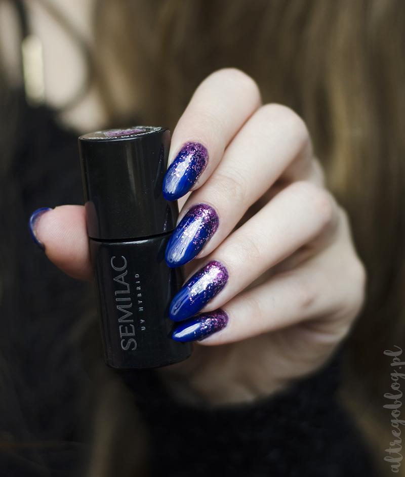 semilac platinum swatce, 245 violet, semilac platinum blog