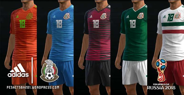 Mexico 2018 World Cup Kits PES 2013