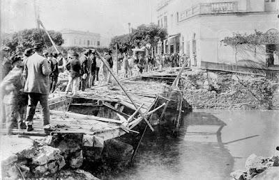Estado del puente despues de la tormenta 1895