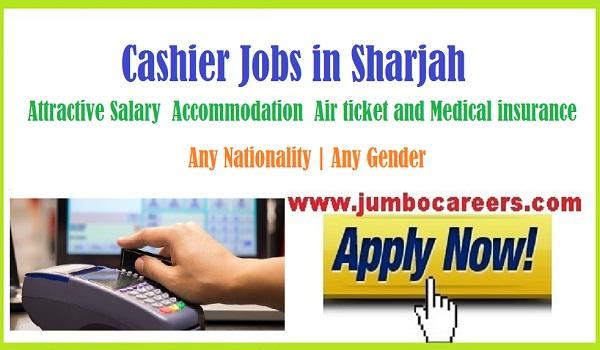 All new Sharjah vacancies with benefits, UAE cashier job vacancies,