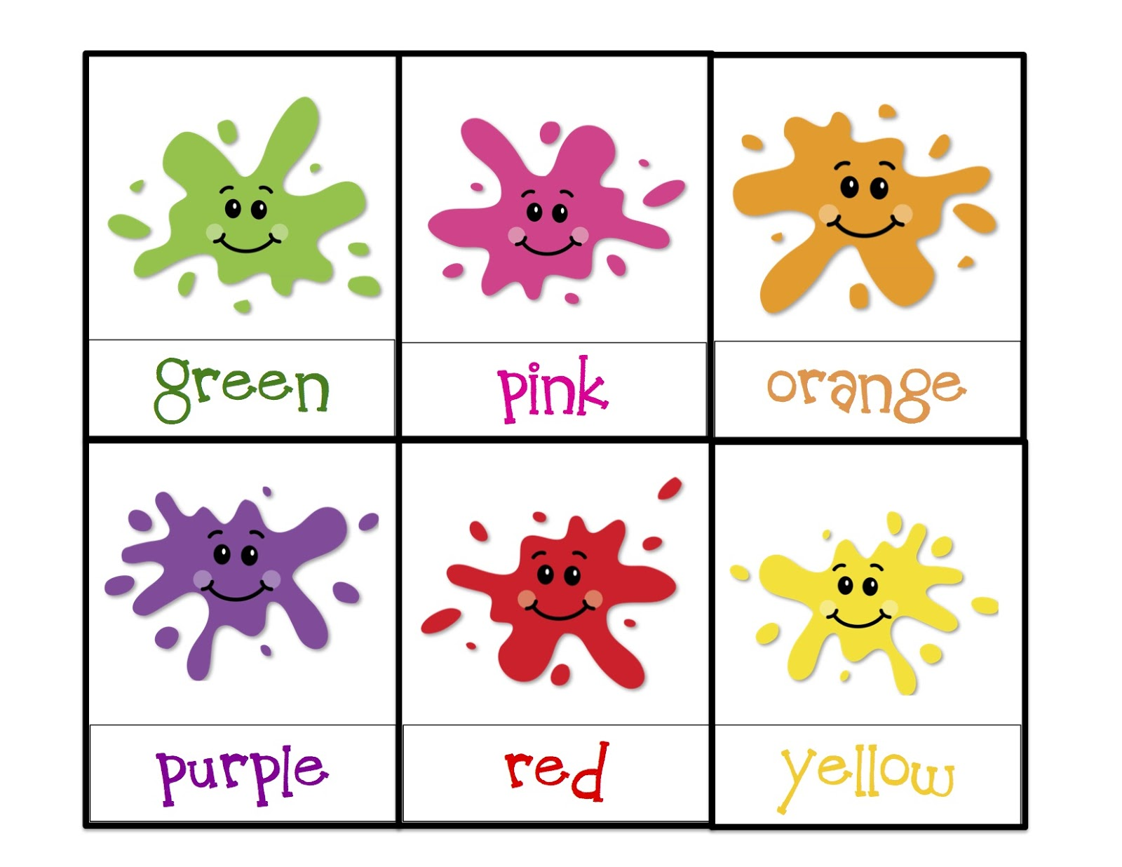 Learning colors printable preschool printables for Learning colors coloring pages