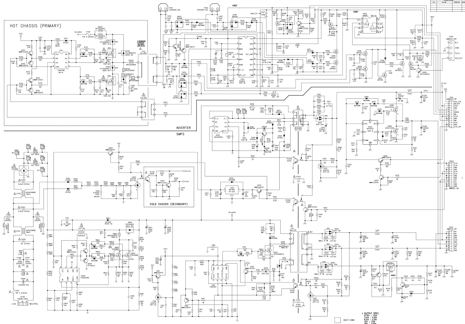 Master Electronics Repair    Lg Lp42slpv2ev3 Eay37229301  U2013 Lg Lcd Tv Power Board Schematic