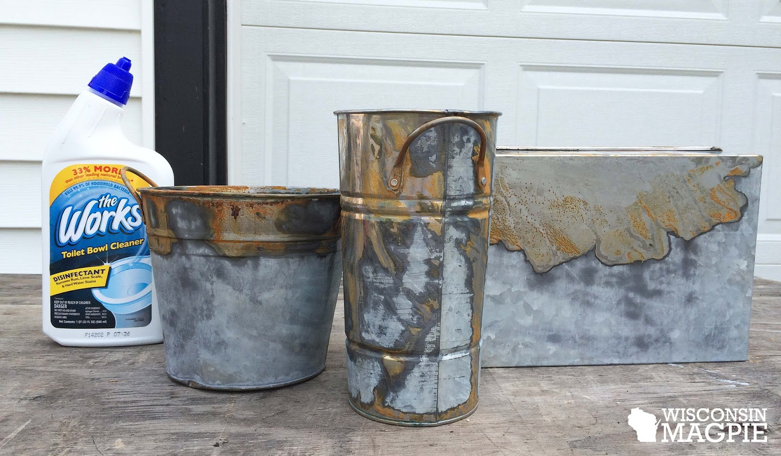 Wisconsin Magpie: De-shining galvanized metal