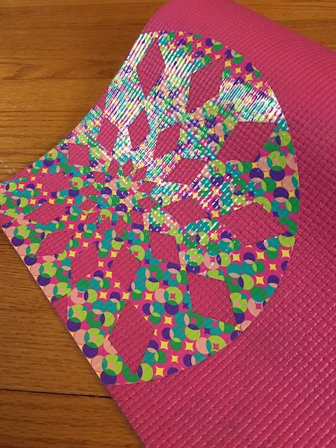 Silhouette CAMEO vinyl yoga mat won't peel