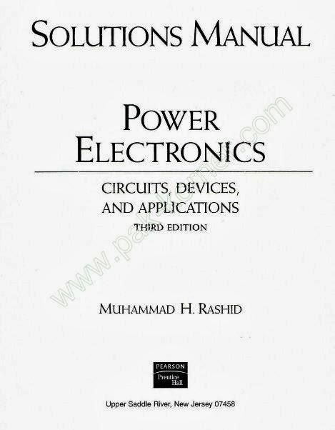 Power electronics books free download by rashida