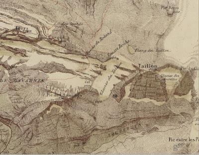Mapa antiguo brecha de Rolando