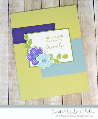 Happy That We Are Friends card-designed by Lori Tecler/Inking Aloud-stamps and dies from Reverse Confetti